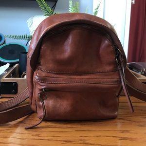 Madewell Lorimer Leather Mini Backpack